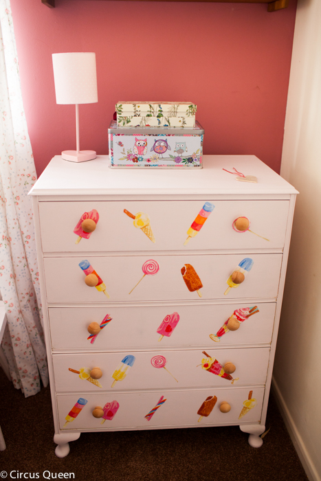 Child's chest of drawers makeover